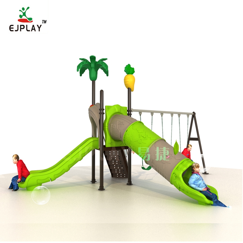 Factory Outdoor Playground Equipment Kids Fun Slide With Swing Set