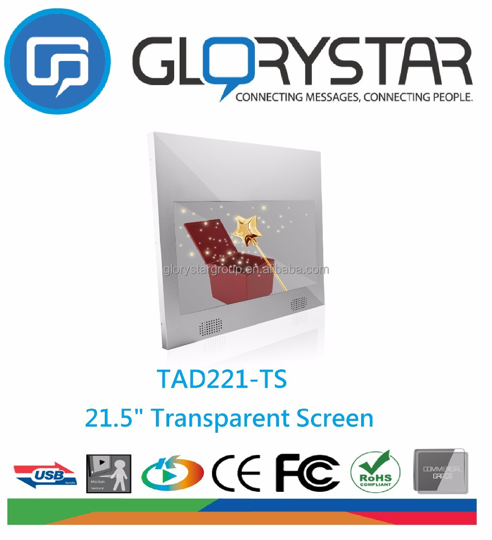 Transparent glass led display such as indoor application