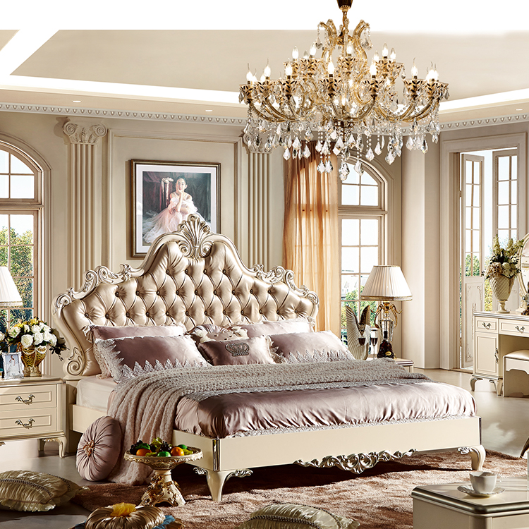 Cream Colored Royal French Bedroom Set