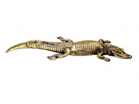 BRONZE METAL CROCODILE STATUE FOR HOME & GARDEN DECORATION