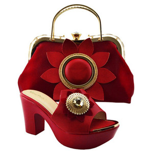 Newest good quality ladies bag and shoes set women italian shoes and bag set for wedding