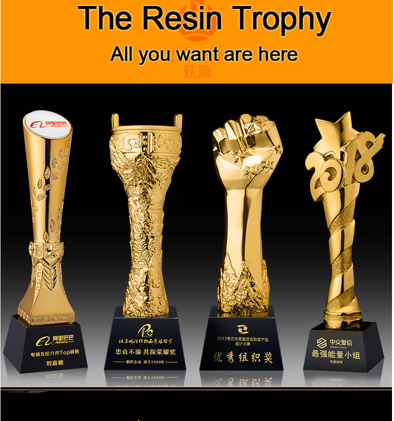 Factory direct craft commemorative gift ornaments Resin sports trophy medals Racing commemorative trophy