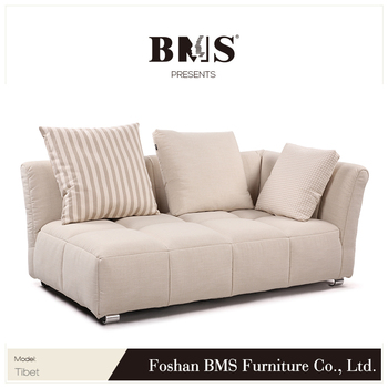 Beige Fabric Sofa Set Y Chaise Bed
