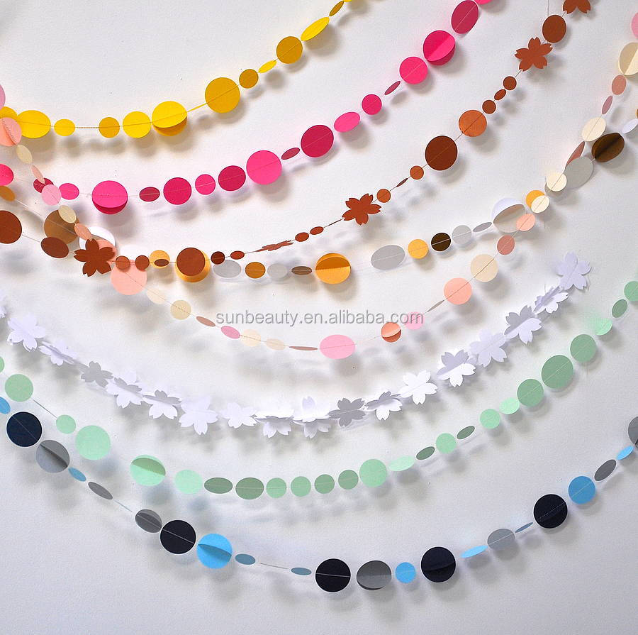 Wall Designs With Craft Paper : Colorful m wall decor art craft paper garland