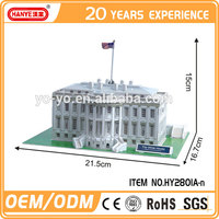 HY2801A-n The White House 3D famous buildings puzzle