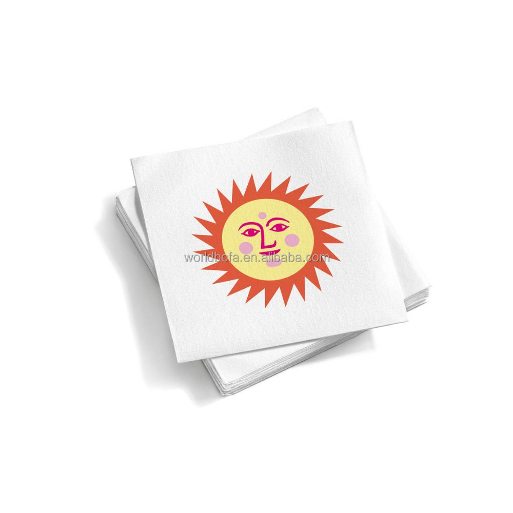 custom paper napkins wholesale Keep your guests cool with these personalized paper wedding fans, available in tons of sweet colors and styles.