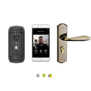 SIP IP video door phone intercom door opening system for villa