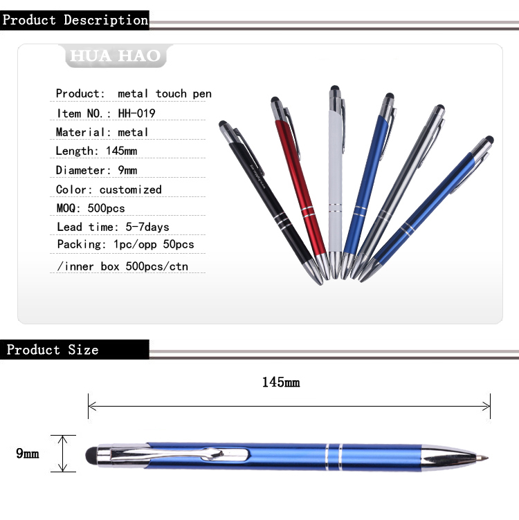 Promotional Customized Pen And Stylus Ball Pen Refill Promotional ...