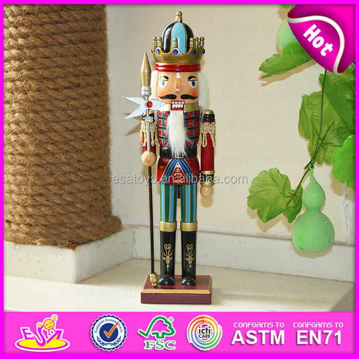 2015 New hot item gifts christmas decorations wooden Nutcracker,Cheap wooden christmas gifts,High quality christmas gift W02A085