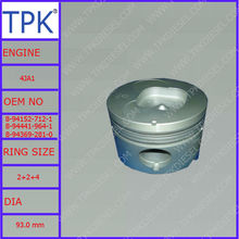 Isuzu 4JA1 piston, 8-94152-712-1 8-94369-281-0 8-94441-964-1