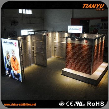 Modular Exhibition Stands Zone : Aluminium profile led display used outdoor booth display stand