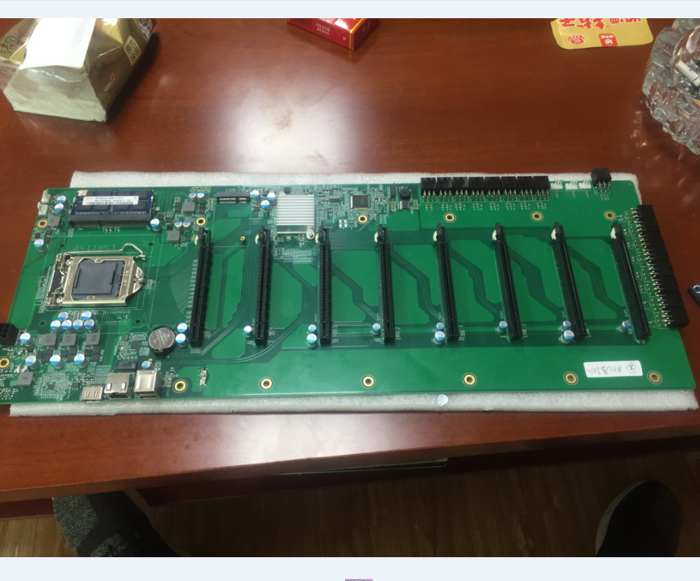 8pcie mining motherboard, mining machine industry design, suitable for Ethernet coin operations