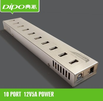 10 port usb hub driver with power adapter 12V 5A 60W Constant current constant voltage