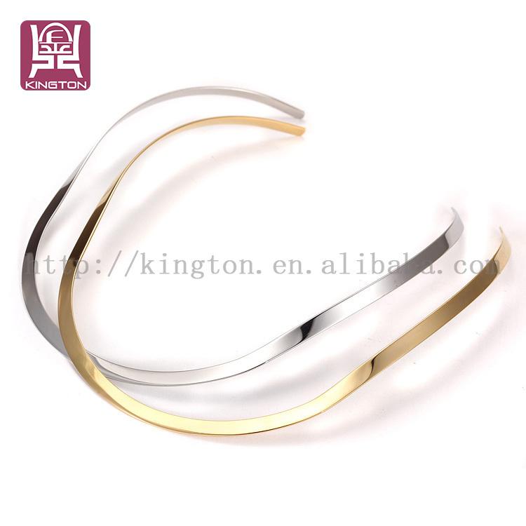 e3afe984de96 2016 sencillo moderno collar acero inoxidable collar-Joyería de ...
