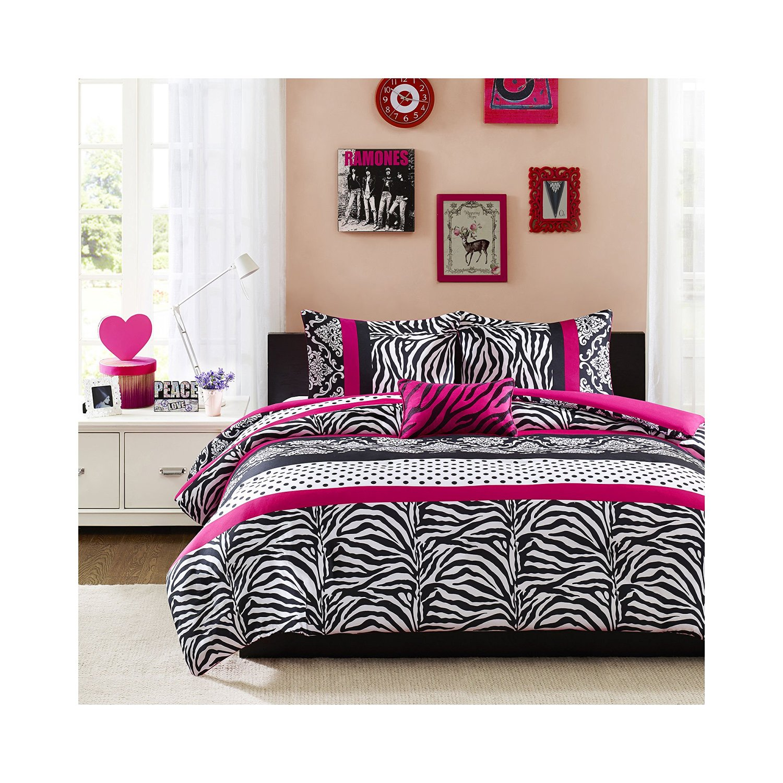 Buy Girls Kids Bedding Misty Zebra Bed In A Bag