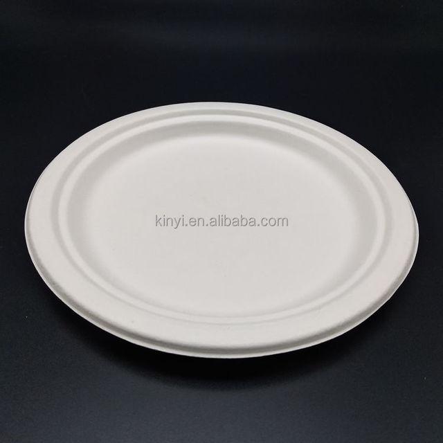 Biodegradable disposable sugarcane bagasse pulp molded fiber paper plates & Buy Cheap China biodegradable and disposable paper plates Products ...
