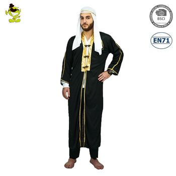 Deluxe Desert Prince Costume With Long Black Coat Adult Mens Dubai Gangster Fancy Dress For Halloween  sc 1 st  Alibaba & Deluxe Desert Prince Costume With Long Black Coat Adult Mens Dubai ...