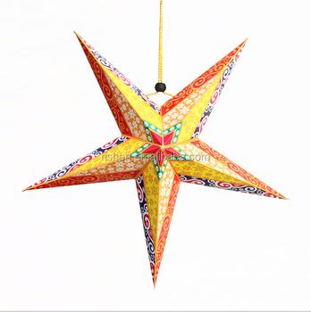 Cheap Indian Paper Star Lanterns Pattern Christmas Star Ornaments Buy Paper Star Ornaments Indian Paper Star Lanterns Paper Christmas Ornament