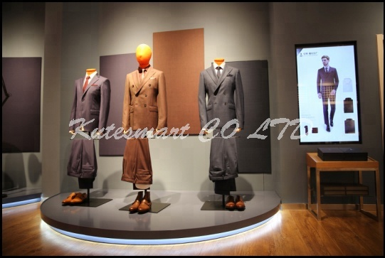 100% wool bespoke Tailor custom made suits for women Red Collar