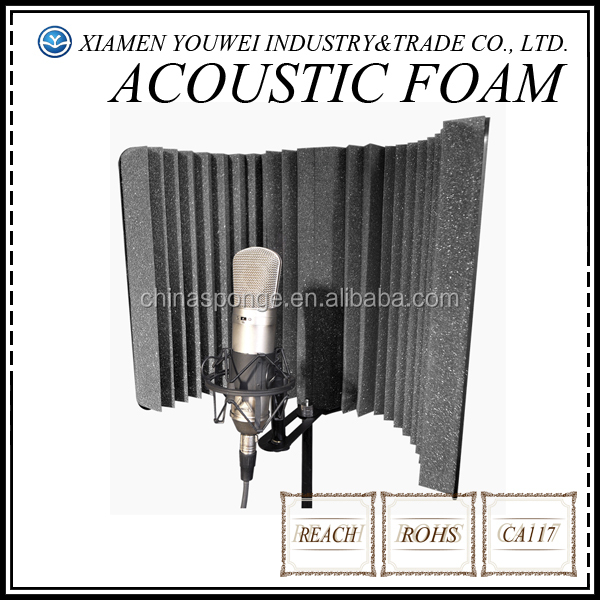 studio microphone diffuseur isolation sonore absorbeur acoustique panneaux de mousse panneaux. Black Bedroom Furniture Sets. Home Design Ideas