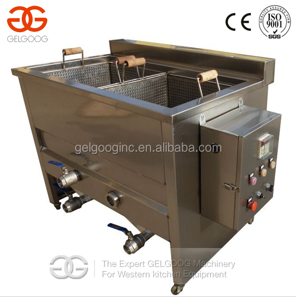 Double Tanks Commercial Coated Peanut Fryer Machine/Potato Chips Deep Fryer/Deep Fryer Without Oil