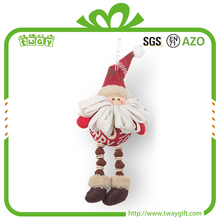OEM supplied 5 inch hanging decoration santa claus handicraft pendant christmas tree ornament