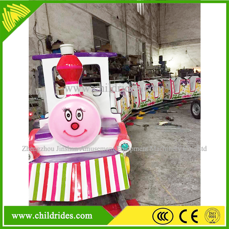 amusement park machine game manufacture best price electric mini track train for children