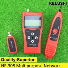 KELUSHI NF-308 Multipurpose Network Cable Test Hunting wire sorting cable length test 5E 6E cable coaxial RJ45 open jumper wire