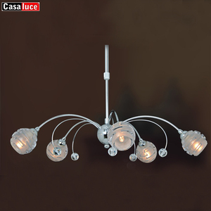 energy saving low price chrome lanterns modern round crystal led light chandelier