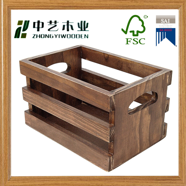 Custom shabby chic factory supply wood fruit crates buy for Vintage crates cheap