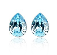 Newest Classic High Quality Crystal Stud Earrings for Woman Water Drop Earrings Factory Price Wholesale