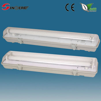 Outdoor Wall Lamp Plastic Fluorescent Waterproof Light Fixture Dust And Water Tube Light Fittings