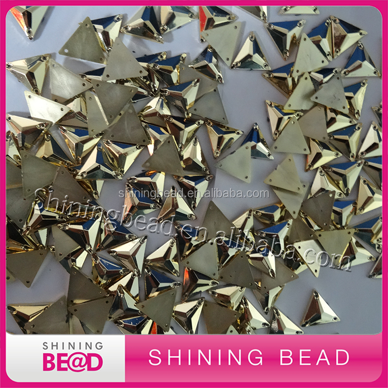 2017 Gold Flat Back Acrylic Stones Sewing-on Rhinestone For Bags Garmen Nail Art Shoes Wedding Dresses Bride Shoe