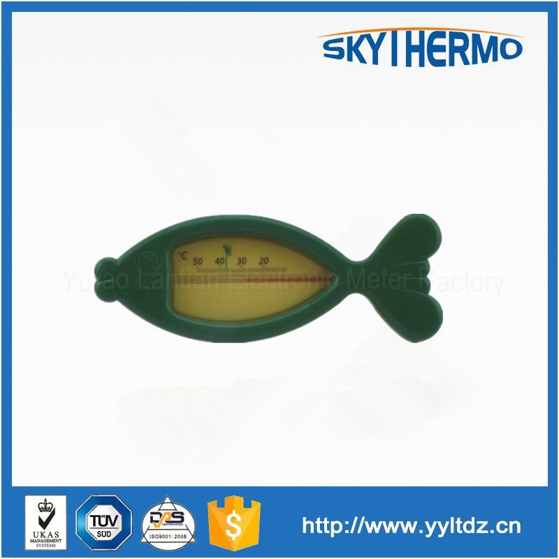 baby waterproof plastic floating bath shower water thermometer in fish shape