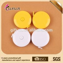 Printing LOGO Plastic Retractable Mini Round Tape Measure for Promotion