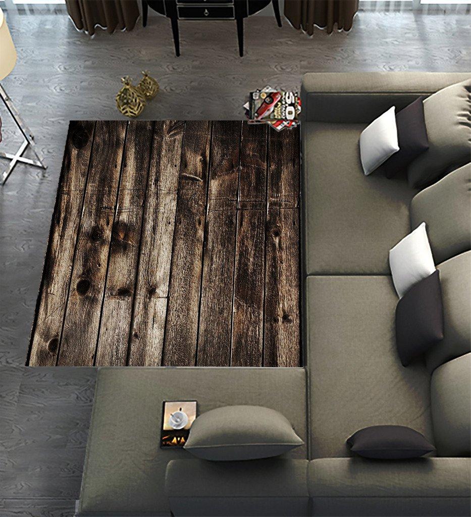 Floor Rugs Mat,Custom Rustic Old Barn Wood Area Rugs Carpet Modern Carpet for Home