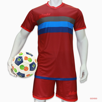 Custom Red Soccer Uniform Set Soccer Wear Jersey