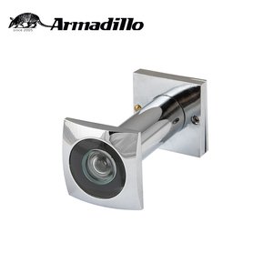 Hot Sale 200 Degree Glass Lens Chrome Brass Square Door Eye Viewer Peephole