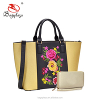 2017 world famous and Guangzhou fashion handbag market with high quality bags woman FJ28-156