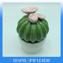 2017 most popular ceramic cactus home decor with white pot