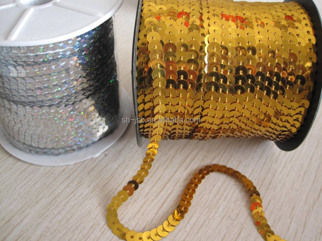 Chain sequins roll PET sequins chain roll line sequin roll