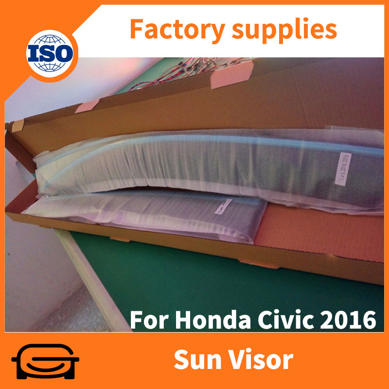 PMMA chrome trim car rain guard window sun visor for Civic 2016