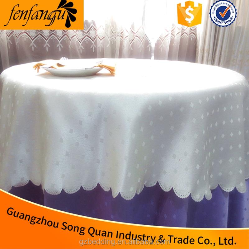 100% Coton Hôtel table tissu, linge de table usine, nappe blanc ...
