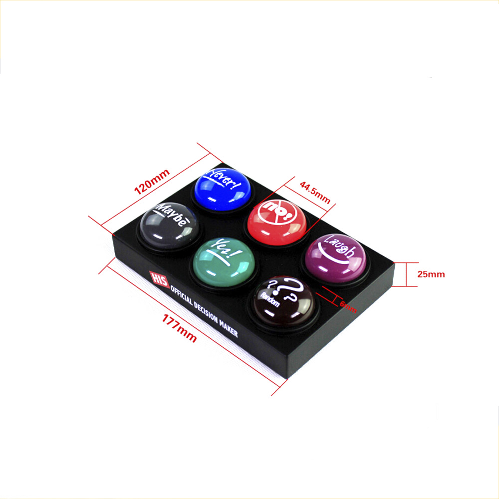Push button electronic music speaking box recorder button
