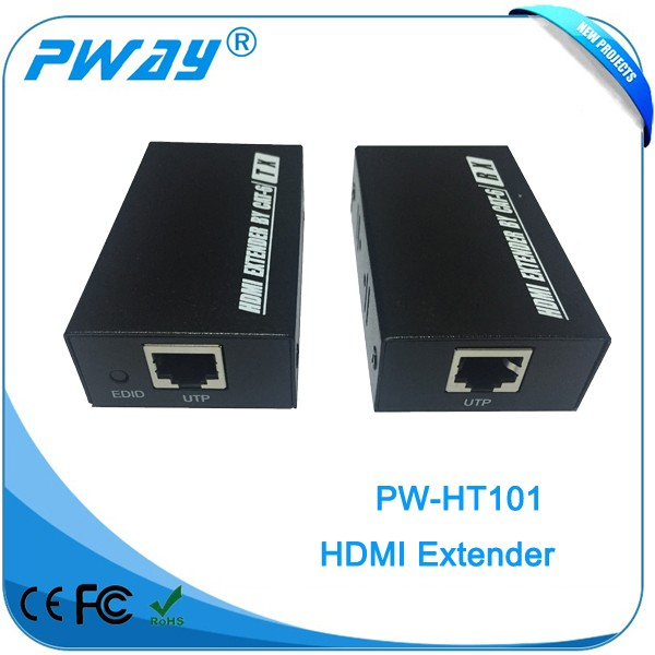 2016 Best selling 1080p 3D signal HDMI extender over cat6 Max 50M China Manufacturer