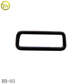 Custom rectangle different size luggage bag metal buckle square buckle supplier