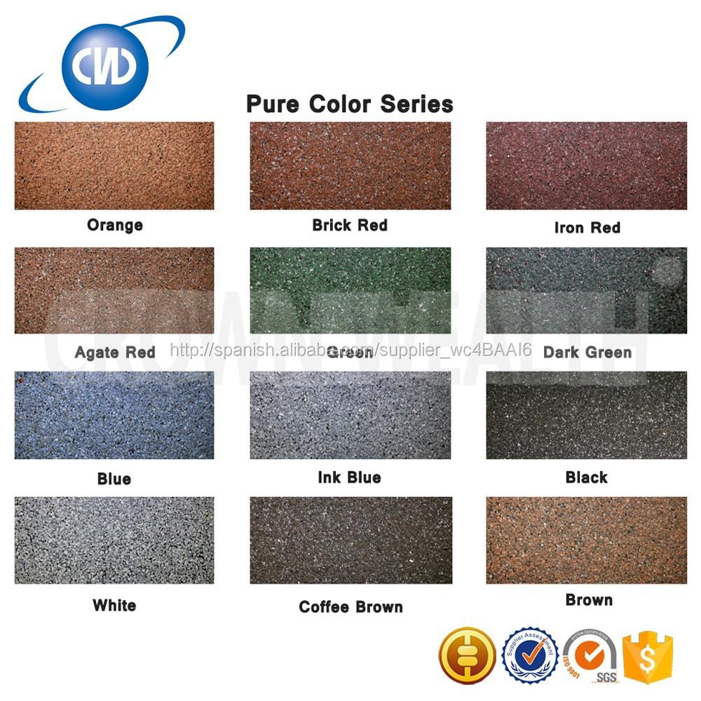 Gkr-r28 barato techos de Metal Color Material de piedra acero ...