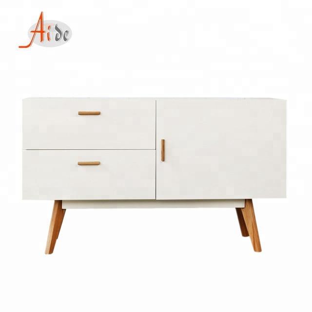 Factory price scandinavian furniture wooden drawer storage cabinet
