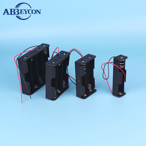 Professional Manufacturer Coloful Battery Holder Case 4 AA AAA Hard Plastic Storage Box Cover For 14500 10440 Battery
