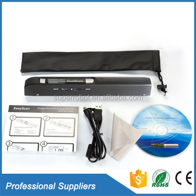 CE Certificate A4 document Book handheld portable scanner
